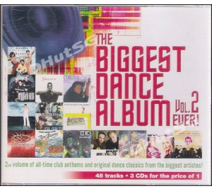 Biggest Dance Album Ever! Vol.2 3CD Set Ft. DJ Lhasa, Masterboy, Angel City, Ice MC, 2 Unlimited....